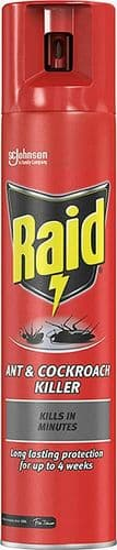 Cockroach Killer Spray Ant Killer Raid Kills Spiders and Crawling Insects 300 ml